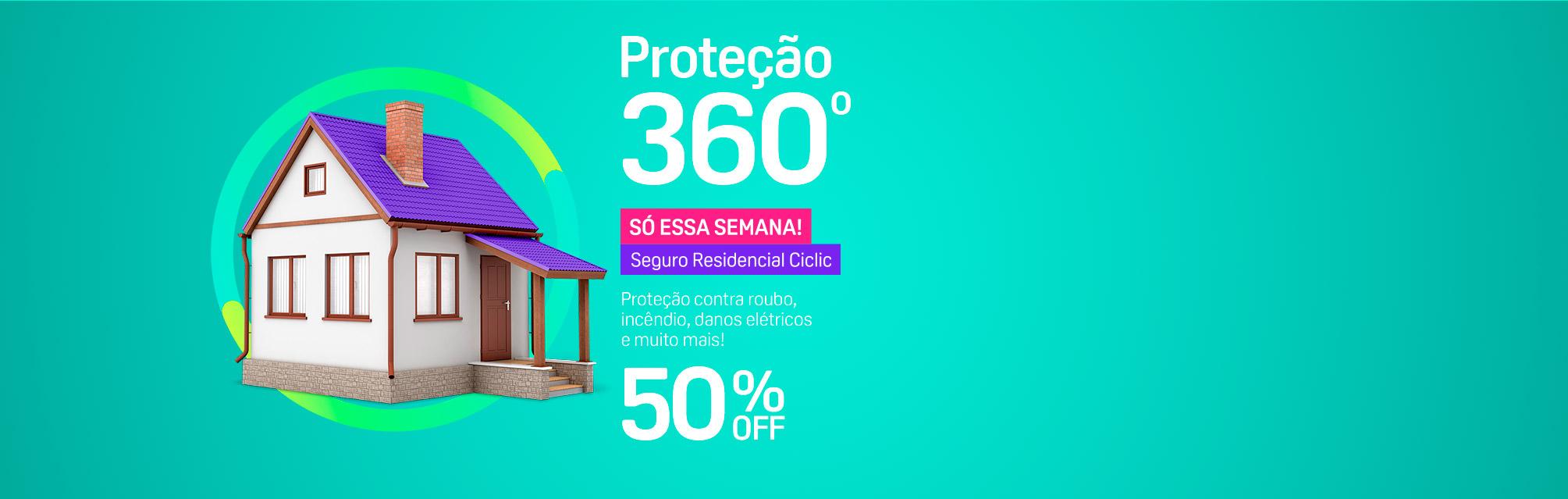 Proteção 360º - Proteção contra roubo, incêndio, danos elétricos e muito mais!